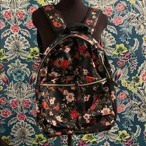 Anthropologie black floral backpack